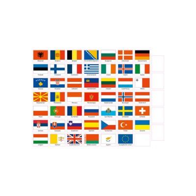 Magnet-Set Flaggen Europas