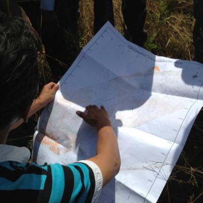 Topographische Karte des Reservoirs