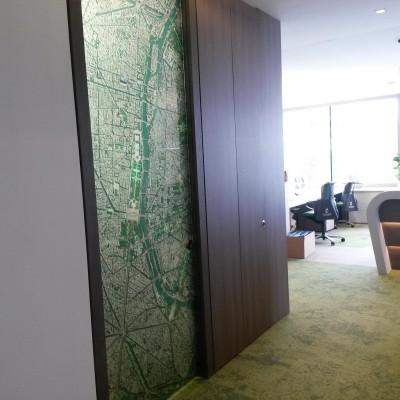 Satellitenbilder als Kunstdrucke - Türmotiv
