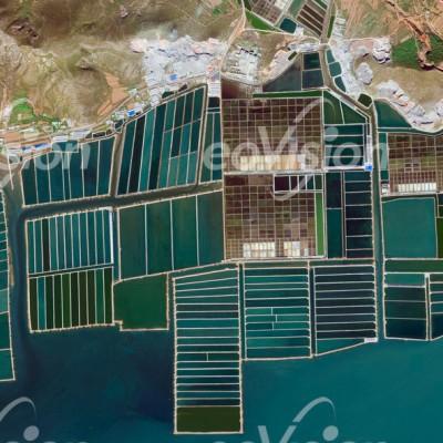 Aquakulturen entlang der Küsten Chinas