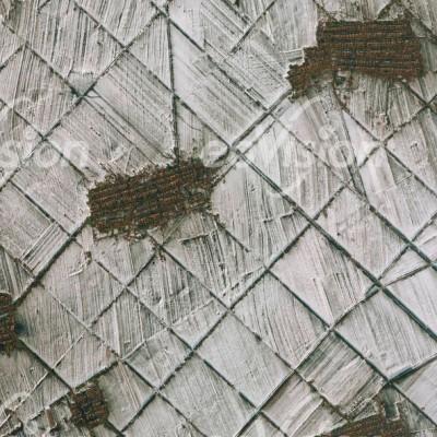 China - Bewässerungsfelder im Winter - Schneeverwehungen