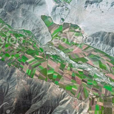 Peru - die Landwirtschaft konzentriert sich auf die Bereiche entlang der Flüss