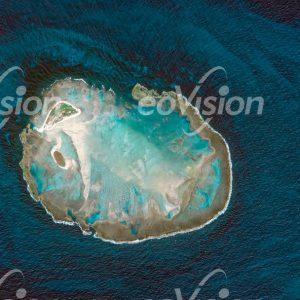 Atol De Rocas - von Korallen gebildet und von Algen gefärbt