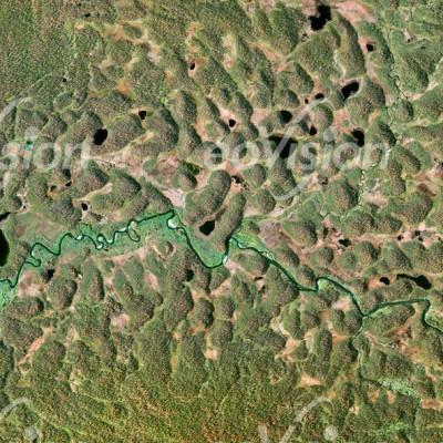 Balleren Schweden - Moore mit Birken- und Fichtenwäldchen