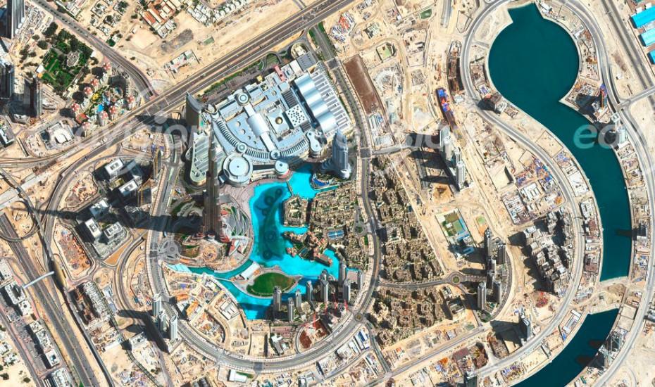 der Turm Burj Al Khalifa ist das höchste Gebäude der Welt