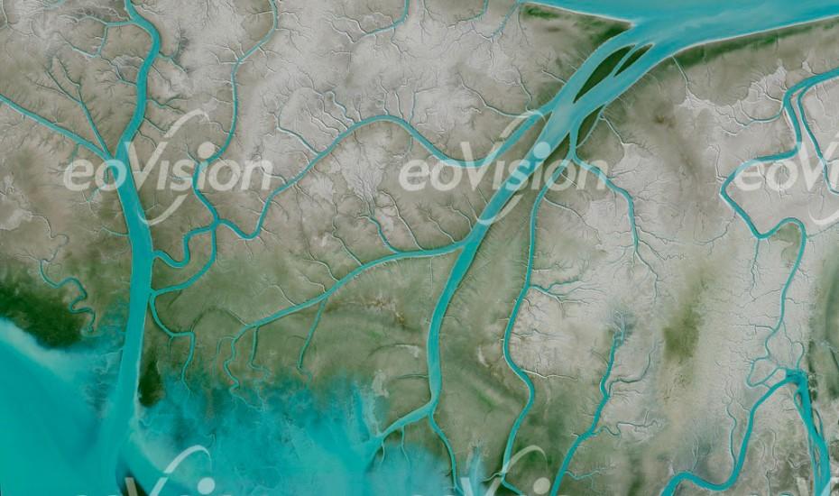 Isla Trinidad - Muster der Abflusskanäle
