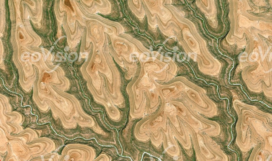 Buuraha Cal Madow - Abfolge von Gesteinsschichten freigelegt