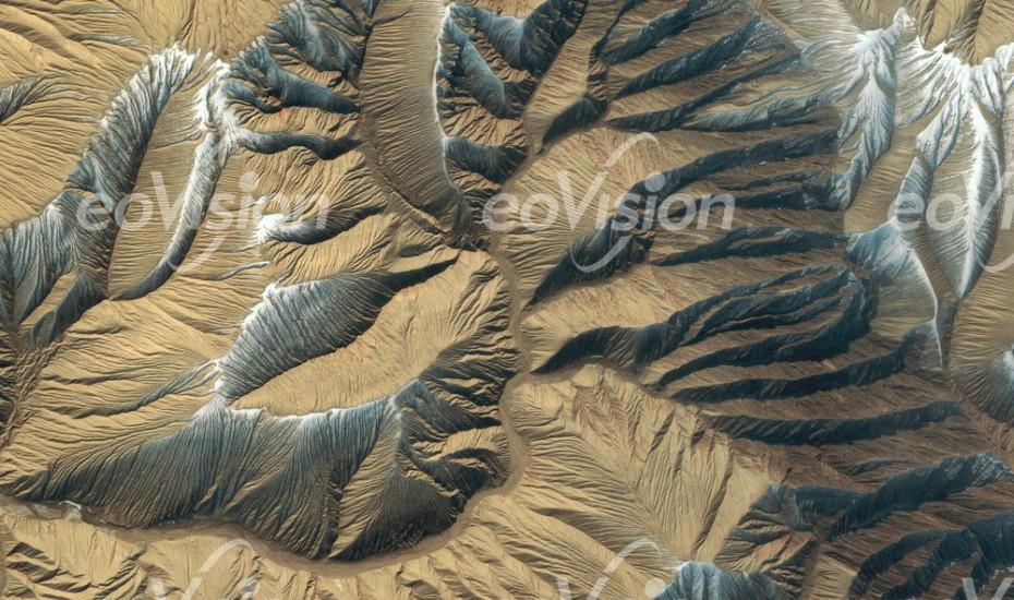 Kunlun Shan -Erosionsmuster