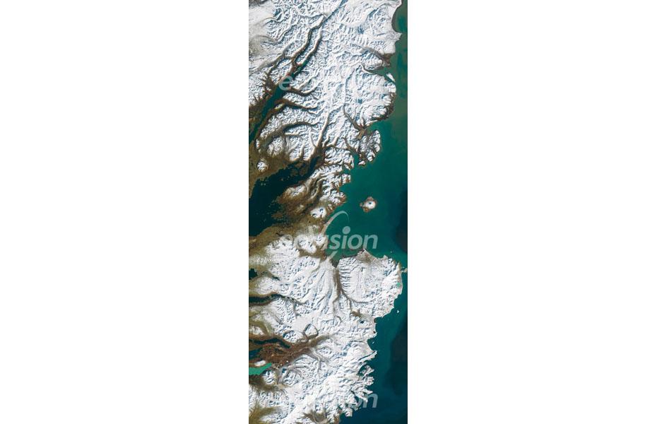 Die Aleuten sind eine Inselkette zwischen Nordamerika und Asien