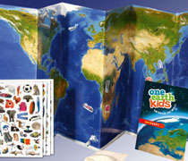 one earth kids: Ein magnetischer Weltatlas für Kinder.