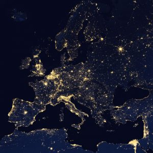 "Satellitenbildposter ""Europe at Night"""