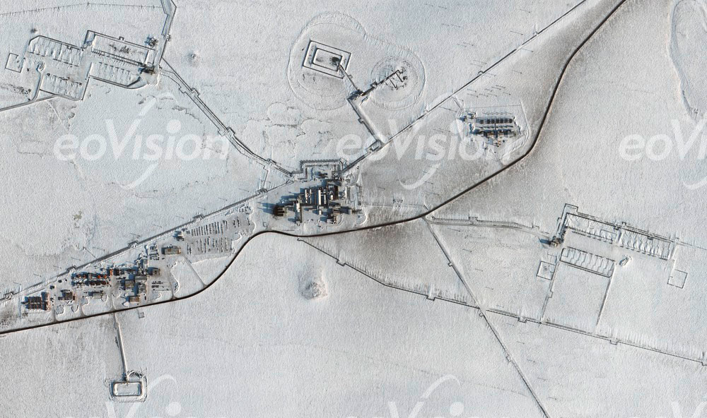 Permafrostgebiet von Pruhoe Bay - Ölbeförderung