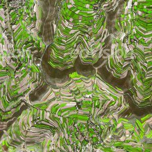 Landstriche mit Terrassen für den Ackerbau