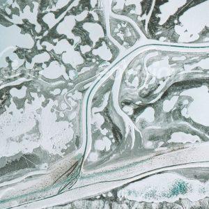 MacKenzie Delta - eisbedeckte arktischen Flüsse als Autobahnen