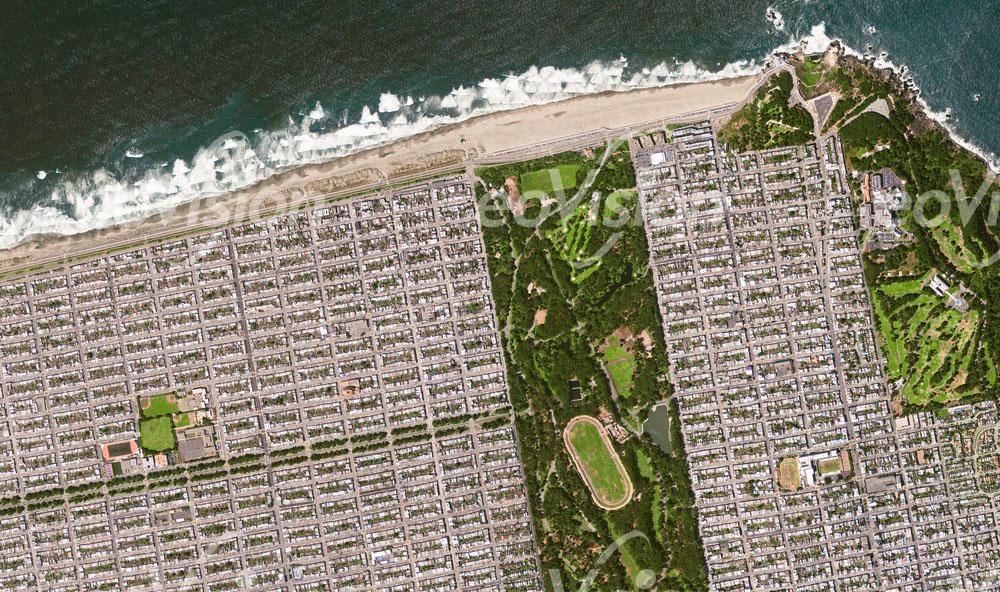 San Francisco - starre rechtwinkeligen Siedlungen