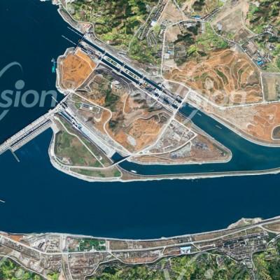 Der Drei-Schluchten-Damm staut den Jangtsekiang