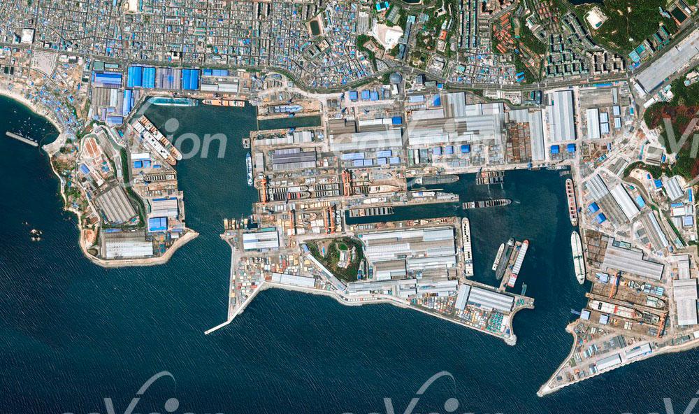 Ulsan Werft - die größte Werft der Welt