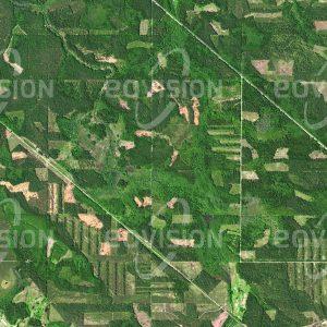 """Das Satellitenbild """"VECMUICA - Lettland"""" ist dem Bildband """"EUROPA - Kontinent der Vielfalt"""" entnommen. Bildbeschreibung: Europa war noch vor wenigen Jahrhunderten ein weitgehend von Wäldern bedeckter Kontinent. Auch heute noch sind vor allem in Nordeuropa weite Flächen bewaldet, in Lettland etwa 45 Prozent der Landesfläche. Die Wälder sind hier auch ein wichtiger Wirtschaftsfaktor, fast ein Drittel des Bruttosozialprodukts wird mit Holz erwirtschaftet. Im Satellitenbild erscheinen industriell genutzte Wälder wie Mosaike, die aus Flächen mit einheitlichen Bäumen bestehen."""