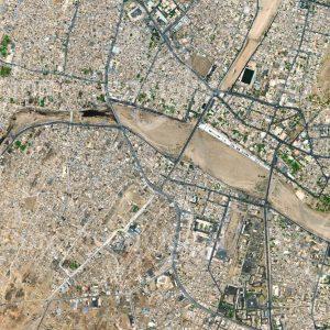 """Das Satellitenbild """"TAMANRASSET - Algerien"""" ist dem Bildband """"WÜSTEN - Lebensraum der Extreme"""" entnommen. Bildbeschreibung: Zu diesem Bild gibt es keine Bildbeschreibung"""