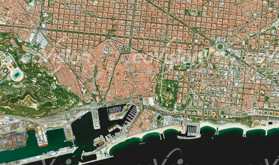 Barcelona - geometrisch angelegter Stadtkern
