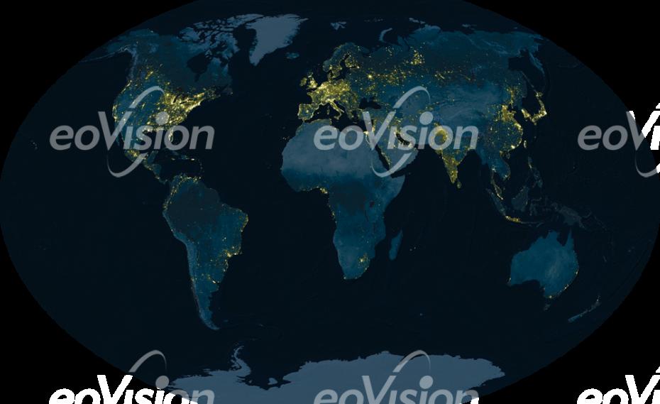 Weltkarte - Die Erde bei Nacht